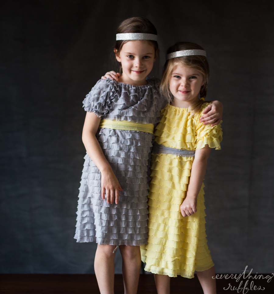 flower girl dress with short sleeves - copyright Everything Ruffles-9321