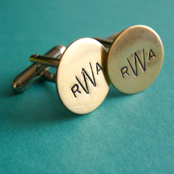 What's Hot in The Marketplace - 9.12.13 - monogram cuff links by spiffing jewelry
