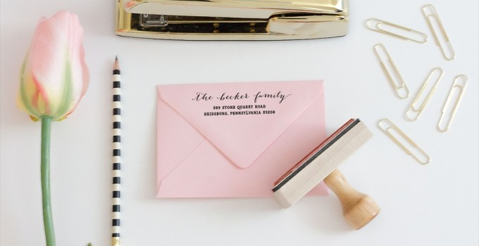 custom return address rubber stamp