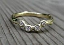 diamond arc wedding band