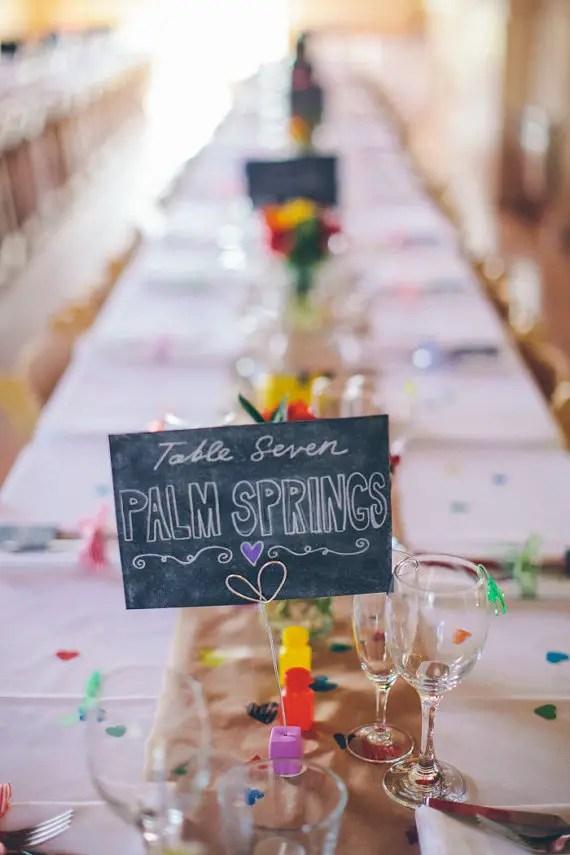 Table Numbers at Weddings