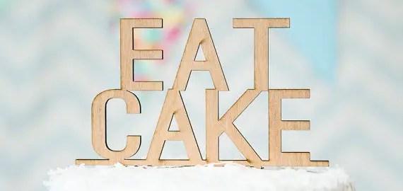 eat cake topper