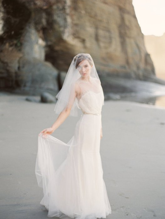 elbow length veil 2