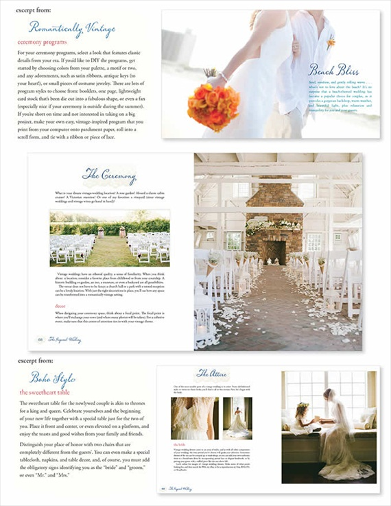 excerpts from the inspired wedding // how to plan a themed wedding