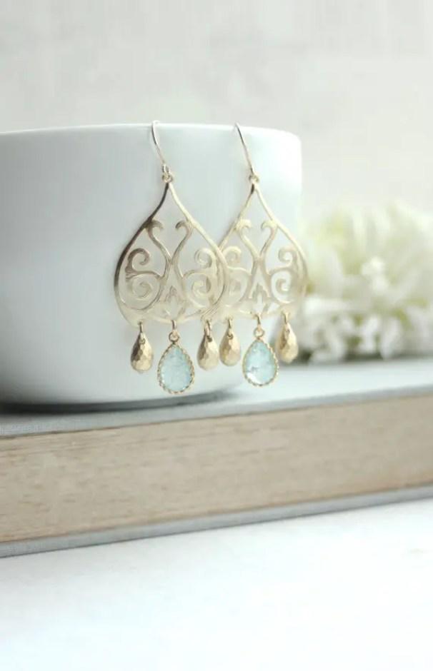gold earrings - moroccan wedding jewelry