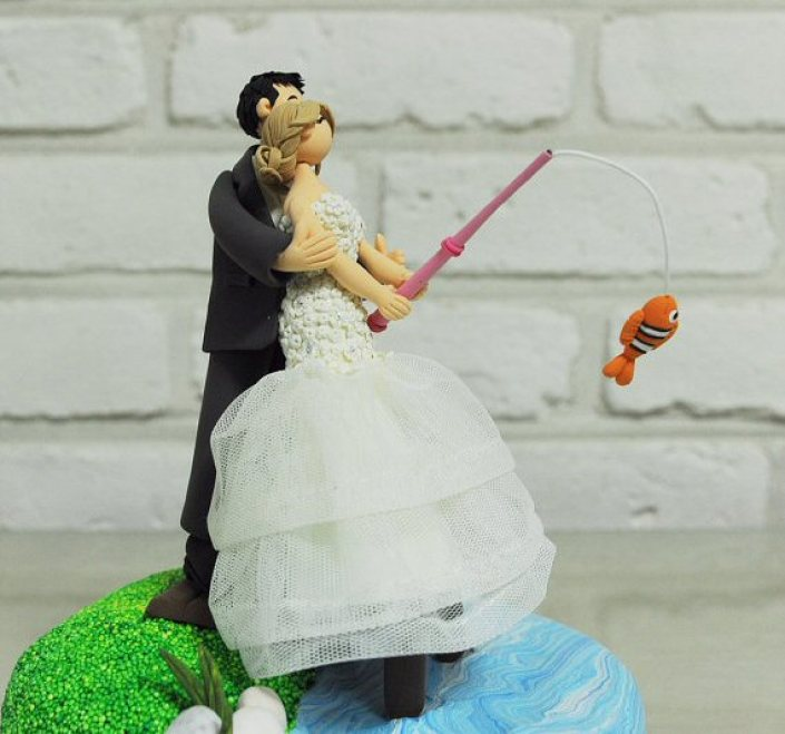 Fishing Cake Topper For Wedding Emmaline Bride