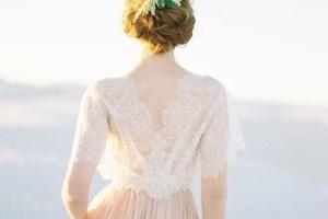 floral bridal cover up back