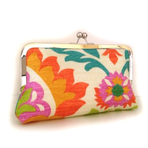 floral bridesmaid clutch bags by flora handmade