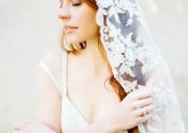 floral lace wedding veil