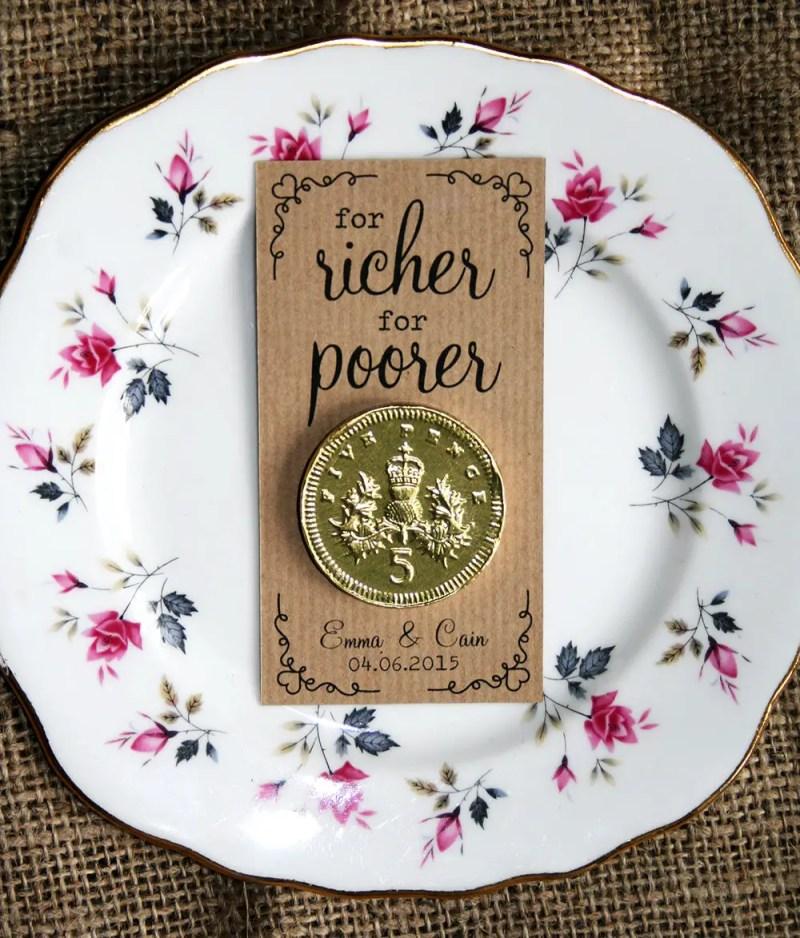 for richer for poorer wedding favors