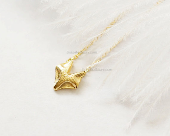 fox necklace in gold by miss diary | Fox Ideas Weddings via http://emmalinebride.com/rustic/fox-ideas-weddings/