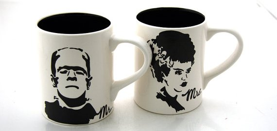 frankenstein bride of frankenstein mugs