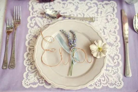 vintage inspired tablescape - lavender