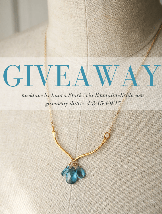 gemstone necklace | via 10 NEW Something Blue Ideas | http://emmalinebride.com/bride/new-something-blue/