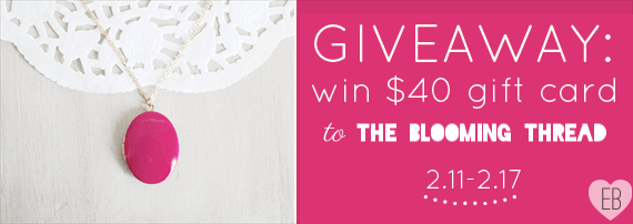 Giveaway: Win $40 at The Blooming Thread (by The Blooming Thread via EmmalineBride.com)