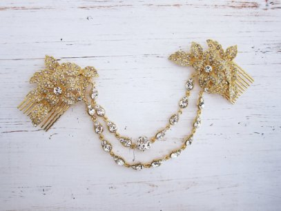 bridal hair chain | via http://emmalinebride.com/bride/bridal-hair-chain/
