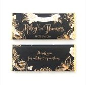 gold floral design candy wrapper