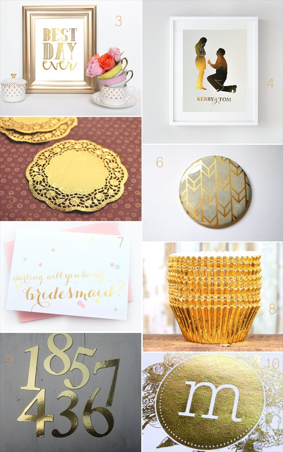 30 Best Gold Foil Ideas for Weddings