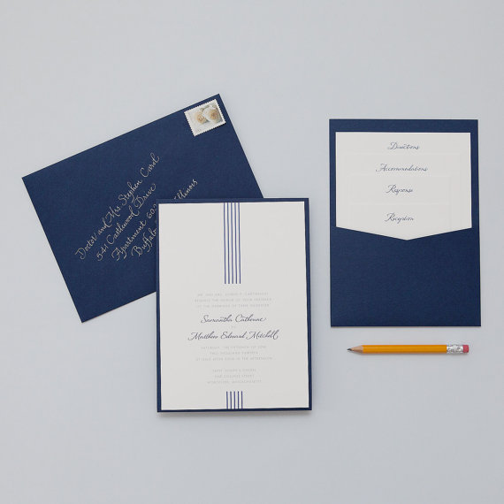 how to coordinate your wedding - gramercy invitation (by dear lc)