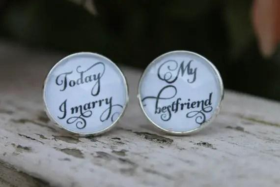 groom cufflinks - today i marry my best friend
