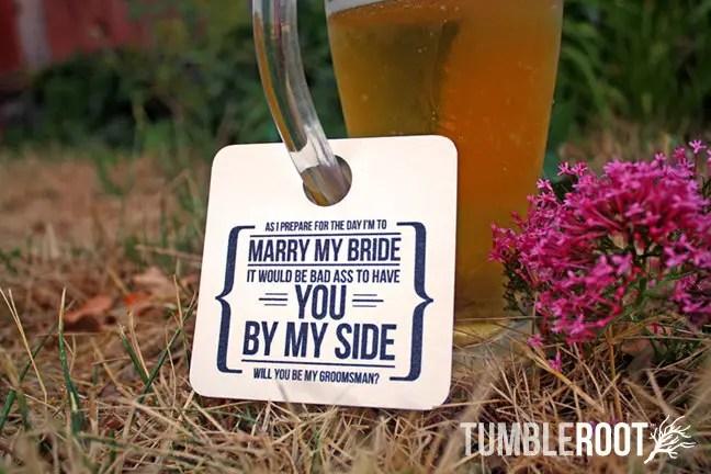 groomsman beer tag