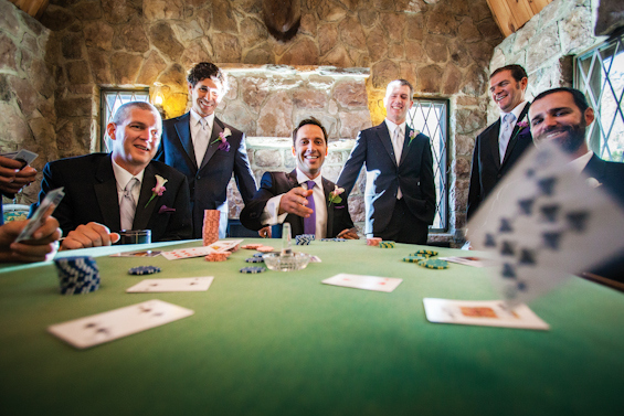 groomsmen playing cards johnstone studios