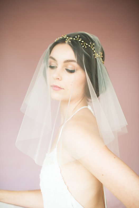 gold crown headband with veil | Bridal Headband With Veil via http://emmalinebride.com/bride/bridal-headband-with-veil/