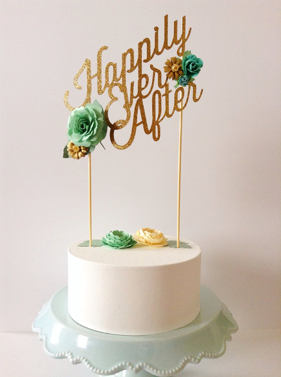 happily ever after | fun cake toppers in words