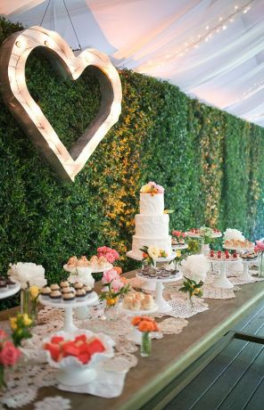 heart wedding marquee lights