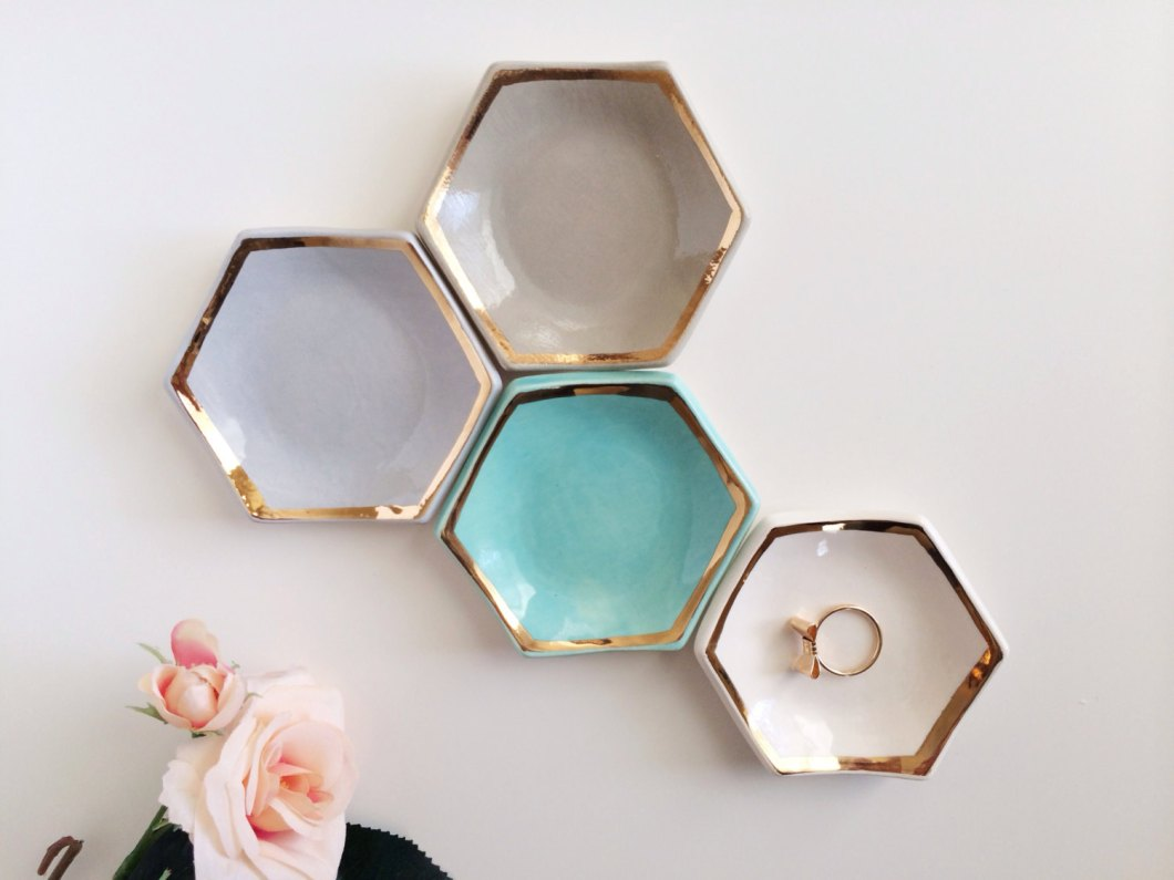 hexagon ring dish