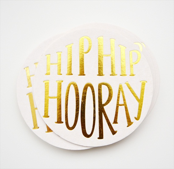 hip hip hooray wedding coaster