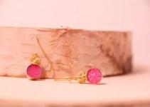 hot pink druzy jewelry earrings