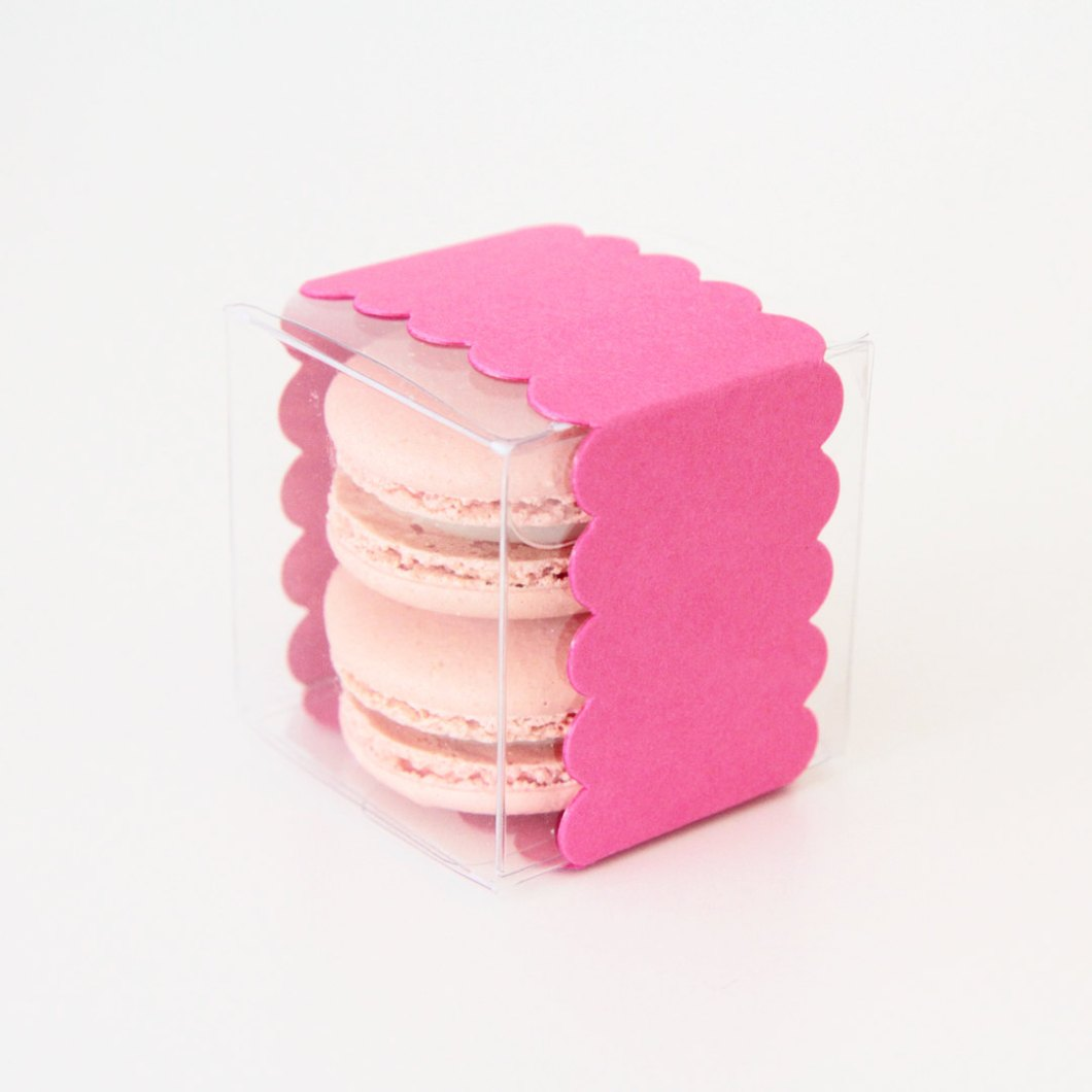 hot pink macaron favor box | via 7 Things to Know About Giving Macaron Favors http://emmalinebride.com/favors/giving-macaron-favors/