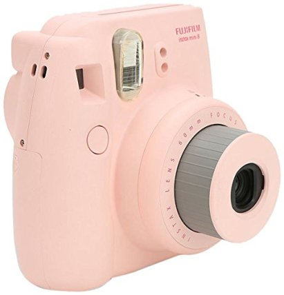 Instant Photo Camera in Light Pink