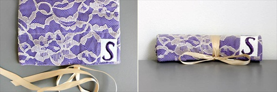 Jewelry Rolls for Bridesmaids (by CraftyStitches via Emmaline Bride)