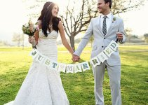 just married - wedding photo signs