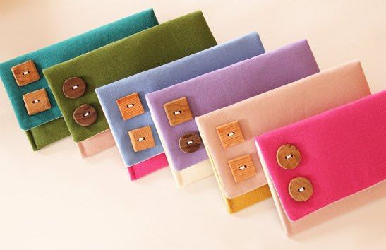 katie linen fold over clutch purses multi color