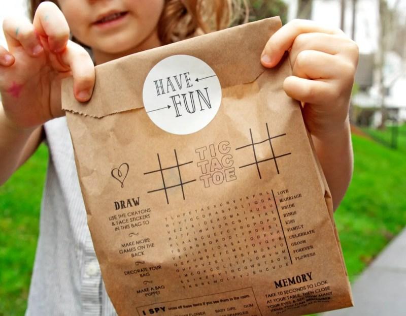 Cute idea for kids favor bags at weddings! By Mavora.   favor ideas kids weddings   http://emmalinebride.com/decor/favor-ideas-kids-weddings/