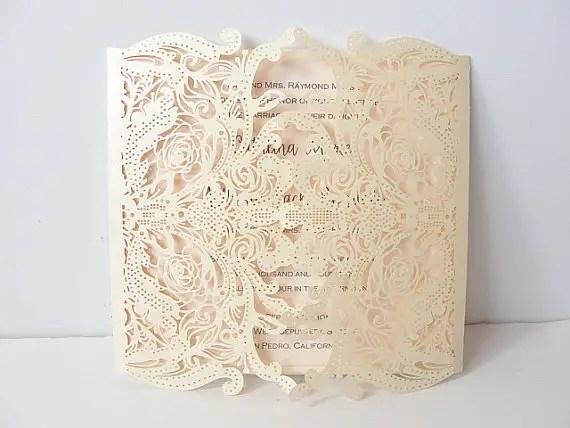 Laser Cut Wedding Invitations | http://emmalinebride.com/invites/laser-cut-invitations/