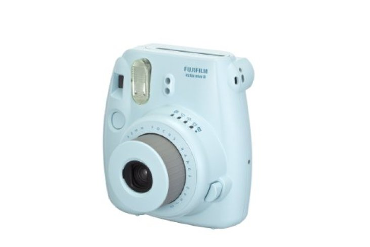 Instant Photo Camera in Light Blue