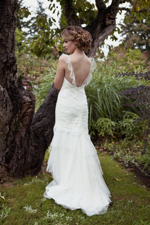 low back wedding dress by cicada bridal - 2