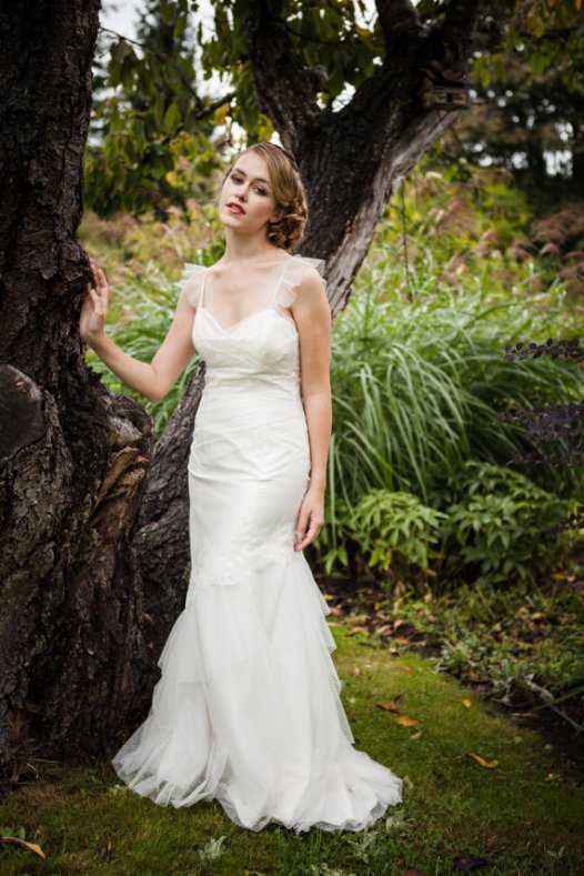low back wedding dress by cicada bridal