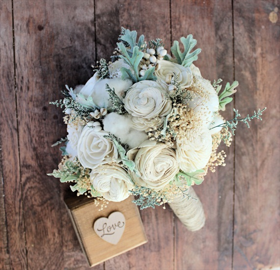 luxe handmade wedding bouquet