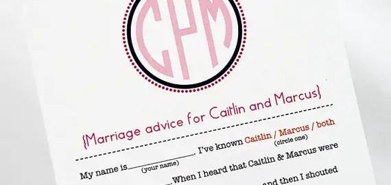 mad lib marriage advice