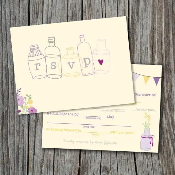 Mad Lib Wedding RSVP Mad Libs Card (by Splash Of Silver) #handmade #wedding