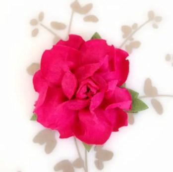 magenta hot pink paper flowers