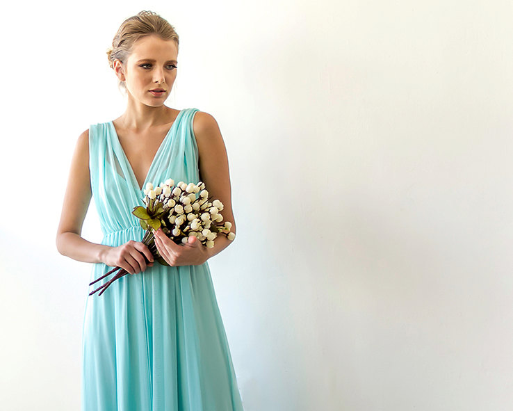 Mint Bridesmaid Maxi Dress | via Bridesmaid Maxi Dresses http://emmalinebride.com/bridesmaids/bridesmaid-maxi-dresses/