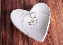 monogrammed wedding ring dish
