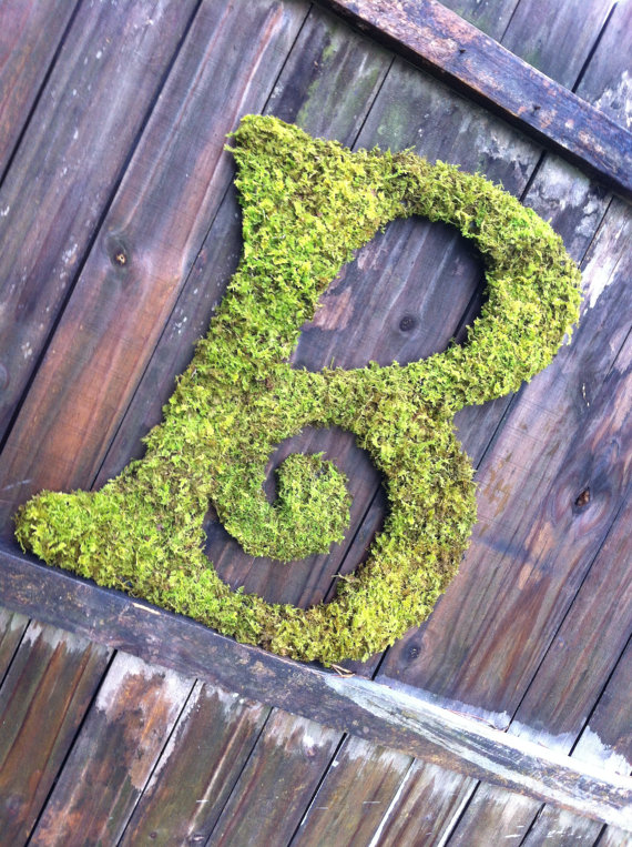moss wedding monogram