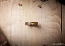 moss wedding ring heart